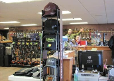 Various items for sale in our archery shop
