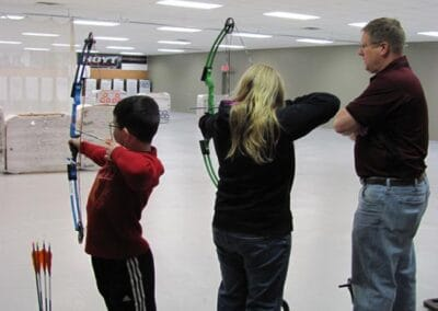 Young shooters getting expert guidance
