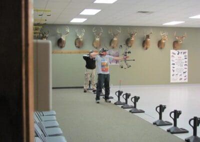 people shooting on the range